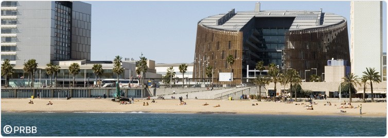 The CRG is located in the Barcelona Biomedical Research Park; photo copyright PRBB