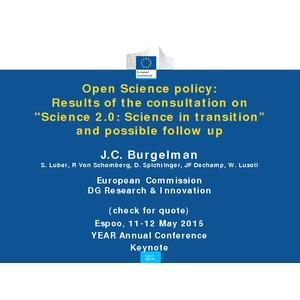 Open Science policy: Results of the consultation on